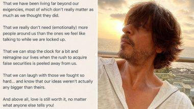 COVID-19 Lockdown वर शाहरुख खान याची सुंदर कविता; 'Lockdown Lessons' म्हणत शेअर केले आपले विचार