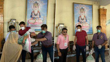 Coronavirus: पाकिस्तानी हिंदूंच्या मदतीला आला शाहिद आफ्रिदी, मंदिरात आवश्यक खाद्यपदार्थांचे केले वितरण (See Photos)