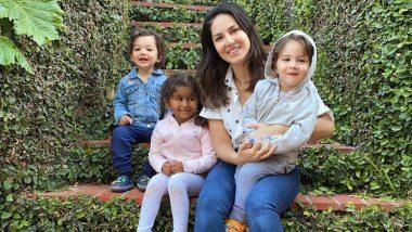 'मदर्स डे' च्या शुभेच्छा देत सनी लिओनी ने आपल्या मुलांसोबत शेअर केला क्यूट फोटो