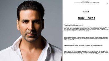 Fake Casting Alert: 'फिलहाल 2' गाण्याच्या कास्टिंगसाठी येणारे कॉल्स फेक; अक्षय कुमार याने ट्विट करत केला खुलासा