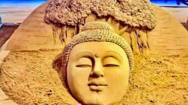 Buddha Purnima 2020: बुद्ध जयंतीचं औचित्य साधत  वाळूशिल्पकार सुदर्शन पटनायक यांनी भगवान गौतम बुद्ध यांचं मोहक सॅन्ड आर्ट थ्रोबॅक फोटोच्या माध्यमातून केलं शेअर!