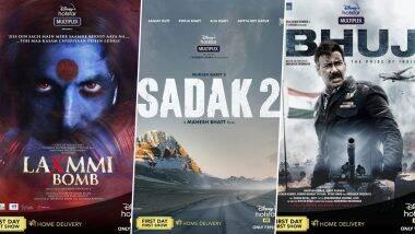 अक्षय कुमारच्या Laxmmi Bomb पासून ते आलिया भट्टचा Sadak 2, अजय देवगणचा Bhuj: The Pride of India असे 7 मोठे बॉलिवूड चित्रपट प्रदर्शित होणार Disney+ Hotstar वर; जाणून घ्या डीटेल्स