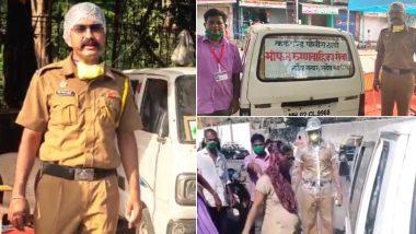 कोविड-19 रुग्णांना स्वतःच्या गाडीतून रुग्णालयात पोहचवणाऱ्या पोलीस कॉन्स्टेबल तेजेश सोनवणे यांना मुंबई पोलिसांचा सलाम! (Watch Video)