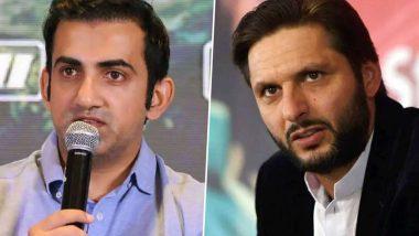 कोविड-19 ची लागण झालेल्या पाकिस्तानी क्रिकेटपटू शाहिद आफ्रिदी याच्याबद्दल गौतम गंभीर याने केले 'हे' वक्तव्य