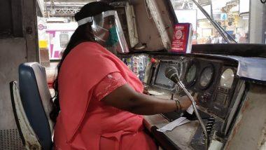 मध्य रेल्वेने मुंबई लोकल चालविणा-या मोटरवुमनचा फोटो शेअर करून प्रवाशांना दिला महत्त्वाचा संदेश