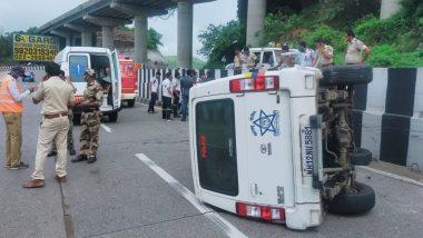 शरद पवार यांच्या ताफ्यातील गाडीला मुंबई- पुणे एक्सप्रेस वे वर अपघात; चालक किरकोळ जखमी