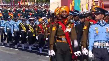 Russia's 75th Victory Day Parade Anniversary: मॉस्को मध्ये भारतीय सशस्त्र दलाच्या तिन्ही सेनांच्या एका तुकडीचा ऐतिहासिक विक्ट्री परेड मध्ये सहभाग; पहा हा शानदार क्षण (Watch Video)