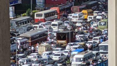 Mumbai Traffic Updates: दहिसर, मुलुंड चेक नाका, कांदिवली वेस्टर्न एक्सप्रेस मार्ग वर ट्राफिक जाम; 2 किमीच्या पलिकडे अनावश्यक प्रवास टाळण्याच्या शहरात नवा नियम