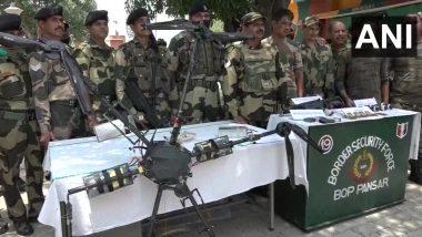 जम्मू काश्मीर मधील कठुआ परिसरात आढळलेल्या पाकिस्तानी ड्रोनमधून अनेक शस्त्रात्रं जप्त; मोठा हल्ला करण्याचा मानस- BSF