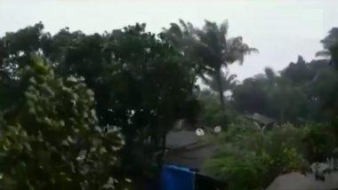 Cyclone Nisarga Effect: निसर्ग चक्रीवादळ चा हाहाकार! रायगड मध्ये इमारती वरचे पत्रे उडून गेले (WATCH VIDEO)