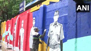 'Heroes of Mumbai' म्हणत कोरोना योद्धांच्या सुंदर पेटींग्सने सजले माहिम रेल्वे स्टेशन; पश्चिम रेल्वे कडून अनोखी सलामी