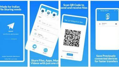 Upsend File Sharing App: Xender, SHAREit ला टक्कर देतोय शुभम अग्रवाल या तरुणाचा मेड इन इंडिया अपसेंड ऍप; जाणुन घ्या फीचर्स  (Watch Video)