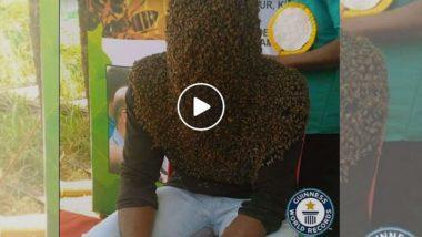 Guinness Book Of World Records: केरळ च्या व्यक्तीने 60 हजार मधमाश्या 4 तास चेहऱ्यावर चिकटवून केला होता हटके विक्रम (Watch Video)