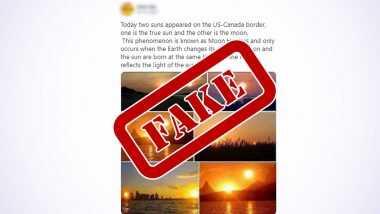 Fact Check: काल Solar Eclipse दरम्यान यूएस-कॅनडा बॉर्डर वर आकाशात दिसले दोन सूर्य? पहा व्हायरल फोटो मागील सत्य