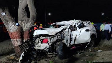 ठाणे येथील घोडबंदर रोडवर कार झाडाला आदळून भीषण अपघात; एकाचा मृत्यू, 3 जण जखमी