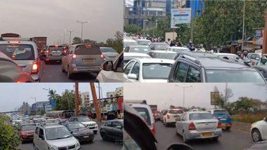 Mumbai Traffic Jam: लॉक डाऊन 5 मध्ये नियम शिथिल झाल्याने मुंबईमध्ये वाहतूक कोंडी; रस्त्यावर गाड्यांच्या लांबच-लांब रांगा (Video)