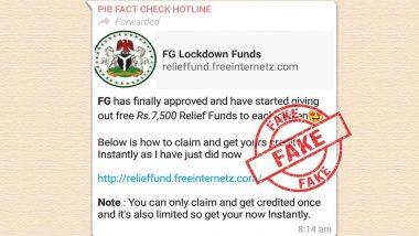 Relief Fund म्हणून प्रत्येक नागरिकाला 7,500 रुपये मिळणार? व्हॉट्सअॅपवर व्हायरल होणाऱ्या मेसेजचा PIB Fact Check कडून खुलासा