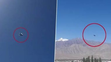 India-China Tensions: गलवान खोर्यातील संघर्षानंतर लद्दाख मध्ये आभाळात घिरट्या घालताना दिसलं वायुसेनेचं लढाऊ विमान (Watch Video)