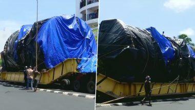 Aerospace Autoclave घेऊन महाराष्ट्रातून निघालेला 74 चाकी ट्रक तिरुवनंतपुरम येथील VSSC मध्ये तब्बल वर्षभरानंतर दाखल (See Pics)