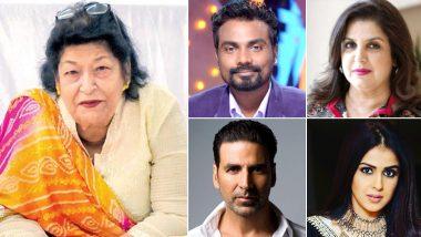 RIP Saroj Khan: नृत्यदिग्दर्शिका सरोज खान यांच्या निधनाने रेमो डिसूजा, फराह खान, अक्षय कुमार, जेनेलिया देशमुख यांनी सोशल मिडियाच्या माध्यमातून वाहिली श्रद्धांजली!