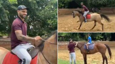 शिखर धवन याने मुलगा जोरवारला शिकवली घोडेस्वारी, व्हिडिओ शेअर करत सांगितला अनुभव (Watch Video)