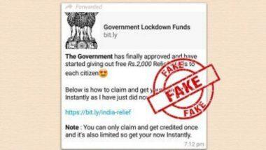 भारत सरकार नागरिकांना देणार रिलीफ फंड म्हणून प्रत्येकी 2000 रूपये देणार? PIB Fact Check ने सांगितलं या व्हायरल मेसेज मागील सत्य