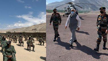 पंतप्रधान नरेंद्र मोदी लेह मध्ये दाखल; CDS बिपीन रावत, आर्मी चीफ मनोज नरवणे देखील सोबत