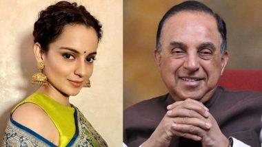 अभिनेत्री कंगना रनौतला मिळाली BJP खासदार सुब्रमण्यम स्वामी यांची साथ; 'Guts' च्या बाबतीत एक नंबर म्हणत, कायदेशीर अधिकार मिळवून देण्यासाठी करणार मदत