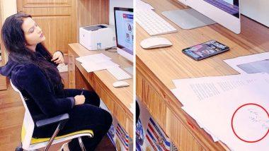 अमृता फडणवीस वेबिनारच्या माध्यमातून डॉक्टरांशी संवाद साधताना बाजूला असलेल्या कागदावर लिहिण्यात आलेल्या 'या' गोष्टीमुळे पुन्हा ट्रोल