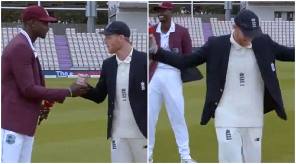 ENG vs WI 1st Test: टॉस दरम्यान जेसन होल्डरला पडला ICC च्या नियमांचा विसर, कॉमेंटेटर देखील लागले हसू, पाहा व्हिडिओ