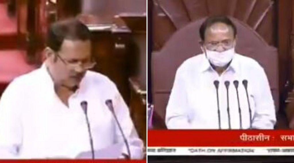 उदयनराजे भोसले यांनी राज्यसभा खासदार पदी शपथ घेताना दिली जय भवानी जय शिवाजी घोषणा; सभापती व्यंकय्या नायडू यांनी सुनावले (Watch Video)