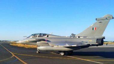 Rafale Fighter Jets Land in India: राफेल लढावू विमान ताफ्याचे अंबाला एअरबेसवर लँडींग; भारताच्या लष्करी सामर्थ्यात वाढ