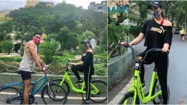 सारा अली खान हिची भाऊ इब्राहीम अली खान सह विकेंडची हेल्थी सुरुवात; सायकलिंग करतानाचे फोटोज सोशल मीडियावर केले शेअर (View Pics)