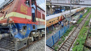 मुंबईतील कांदिवली रेल्वे स्थानकात ट्रेन आणि ट्रकची जोरदार धडक, चालकाला अटक