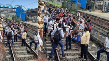 नालासोपाऱ्यात एसटी स्टॅण्ड बंद केल्याने प्रवाशांची रेल्वे स्थानकावर गर्दी; लोकलने प्रवास करण्याची केली मागणी