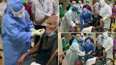 COVID19: मुंबईतील हिंदुहृदयसम्राट बाळासाहेब ठाकरे रूग्णालयाचे कर्मचारी अर्जुन नरिंगरेकर कोरोनामुक्त; रुग्णालयातील कर्मचाऱ्यांनी 101वा वाढदिवस साजरा करत त्यांना दिला निरोप