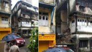 Building Wall Collapses In Mumbai's Grant Road: मुंबईतील ग्रँट रोड येथील एका तीन मजली इमारतीचा भाग कोसळला; 2 जण जखमी