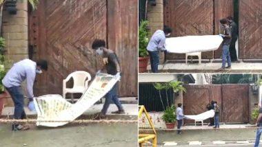 BMC ने अमिताभ बच्चन यांच्या निवासस्थान 'जलसा' बाहेरील पोस्टर हटवले