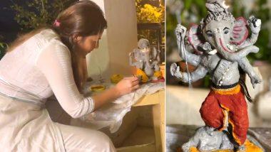 Marathi Celebrity Ganpati 2020: अभिनेत्री सोनाली कुलकर्णी च्या घरी 'अशी' घडली इको फ्रेंडली गणपती बाप्पाची ही मनमोहक मूर्ती, Watch Video