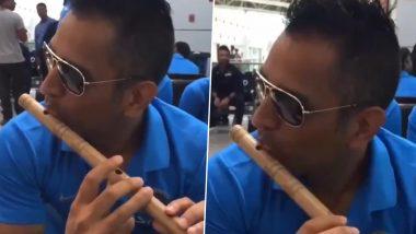 MS Dhoni Playing Bansuri:एमएस धोनीचा कृष्ण अवतार, CSK ने शेअर केलाबासरी वाजविणाराजुना व्हिडिओ (Watch Video)