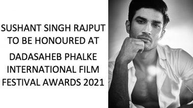 सुशांत सिंह राजपूत ला 'दादासाहेब फाळके आंतरराष्ट्रीय फिल्म फेस्टिव्हल पुरस्कार' जाहीर, अधिकृत इन्स्टाग्राम पेजवर केली घोषणा