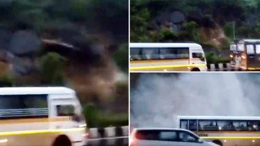 Mumbai Rains: पावसामुळे कांदिवलीच्यापश्चिम एक्सप्रेस हायवेवरदरड कोसळल्याची घटना कॅमेऱ्यात कैद, पाहा Video