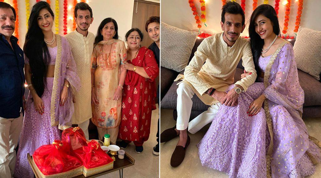 Yuzvendra Chahal-Dhanashree Verma Get Engaged: युजवेन्द्र चहल लग्नबंधनात आकडकण्यासाठी तयार, मंगेतर धनश्री वर्मा सोबत साखरपुड्याचेफोटो व्हायरल; CSKने मजेदार अंदाजात दिल्या शुभेच्छा