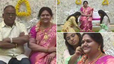 कर्नाटक: कोप्पल येथील उद्योगपती श्रीनिवास गुप्ता यांचा पत्नीच्या मेणाच्या पुतळ्यासह नव्या घरात प्रवेश; पहा फोटोज
