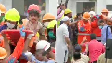 Raigad Building Collapse Rescue Operation: तारीक गार्डन इमारत दुर्घटनेनंतर  19 तासांनी चार वर्षीय मुलगा मोहम्मद बांगी ची NDRF पथकाकडून सुखरूप सुटका(Watch Video)