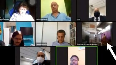 NSFW Video: Rio de Janeiro Council च्या झूम व्हिडिओ कॉन्फरन्स मध्ये एक जोडपं सेक्स करताना झालं कैद; व्हिडिओ व्हायरल