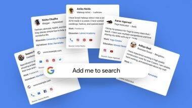 Google 'People Cards' Launched in India: गुगल सर्चमध्ये Public Profile बनवण्यासाठी पीपल कार्ड फिचर भारतात लॉन्च; कसे तयार कराल तुमचे पीपल कार्ड?