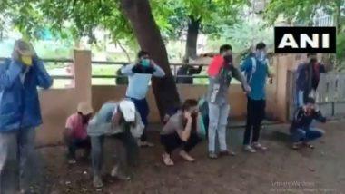 सांगली जिल्ह्यात कृष्णा काठी गेलेल्या हुल्लडबाज तरुणांना विशेष टास्क फोर्सचा दणका; काढायला लावल्या उठाबशा (Watch Video)