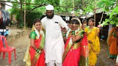 अहमदनगर: मुस्लिम मामाने जिंकली सर्वांची मनं, मानलेल्या भाचींचे हिंदू पद्धतीने लग्न लावत केली सासरी पाठवणी
