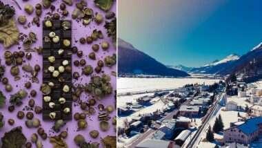 Snowing Chocolate In Switzerland: स्वित्झर्लंडमधील 'ओल्टेन' शहरामध्ये पडला चॉकलेटचा पाऊस; सोशल मीडियावर व्हायरल होतायत 'हे' फोटो